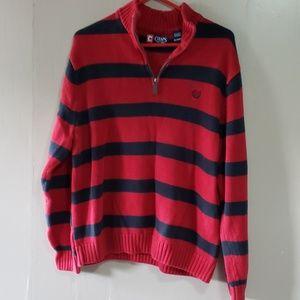 Chaps Mens 1/4 zip Sweater XL